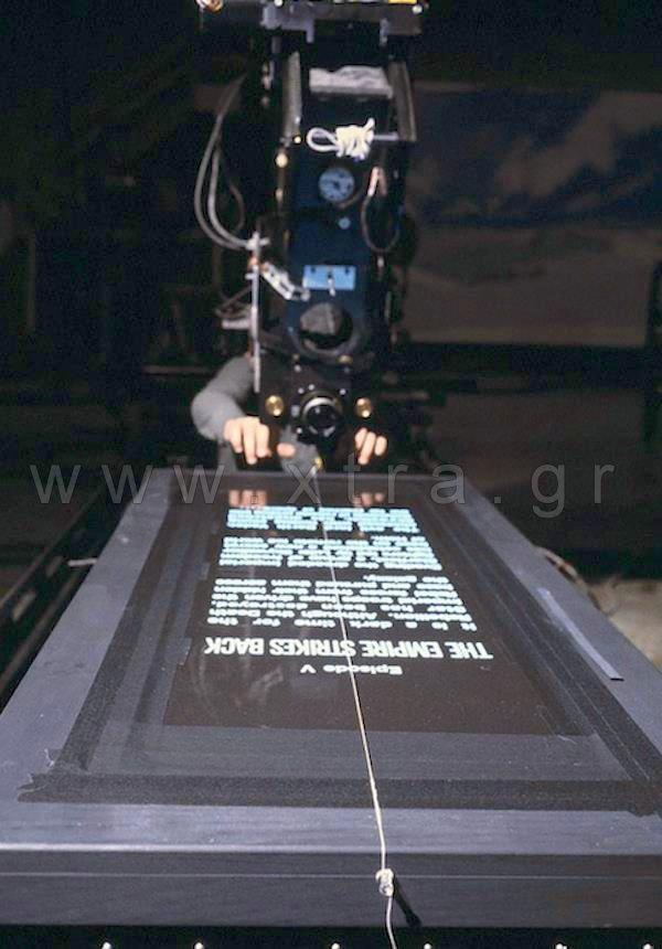Πώς νομίζετε ότι γυρίστηκαν οι τίτλοι του STAR WARS σε έναν κόσμο ...χωρίς Η/Υ;
